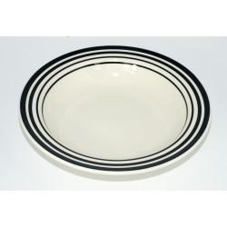 Hluboký talíř Proužek, 23 cm